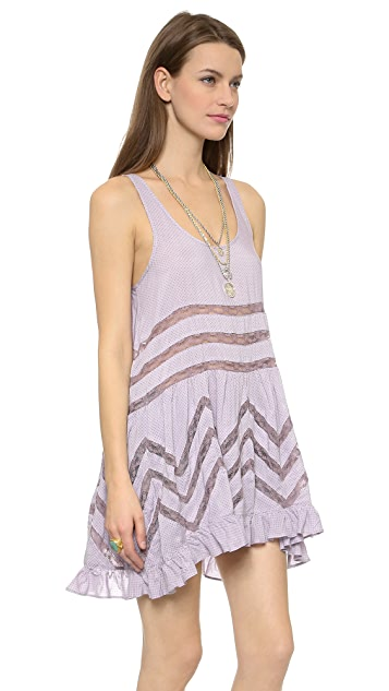 Free People Tiny Dot Trapeze Mini Dress