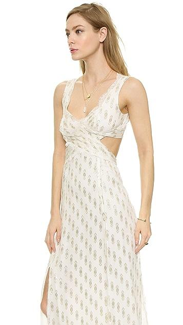 Free People Cross My Heart Jacquard Maxi Dress