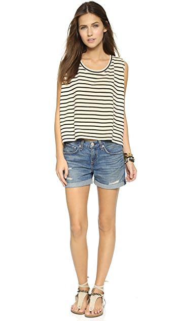 Free People Madness Stripe Muscle Tee