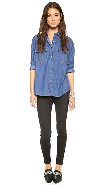 Free People XO Denim Button Down