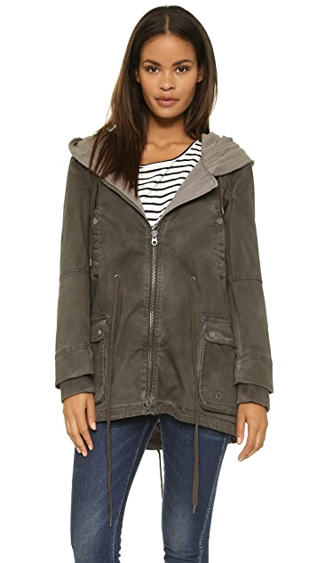 Free People Twill Parka with Knit Hood