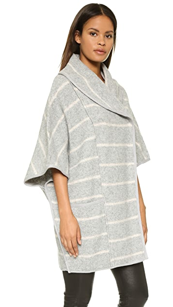 Free People Blanket Poncho Coat