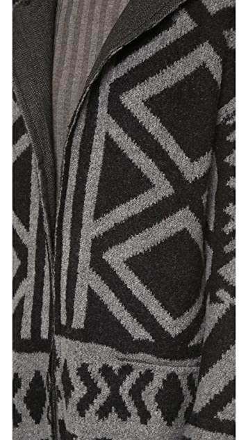 Free People Bold Geo Sweater Coat