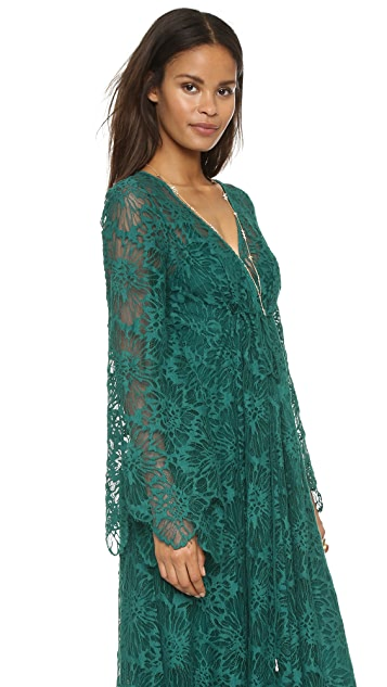 Free People Cool & Sensual Lace Maxi Dress