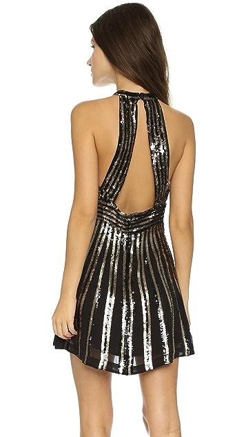 Free People Sequin Stripe Mini Dress