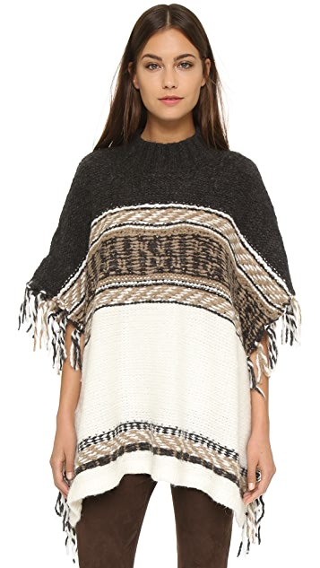 Free People Labyrinth Pattern Poncho