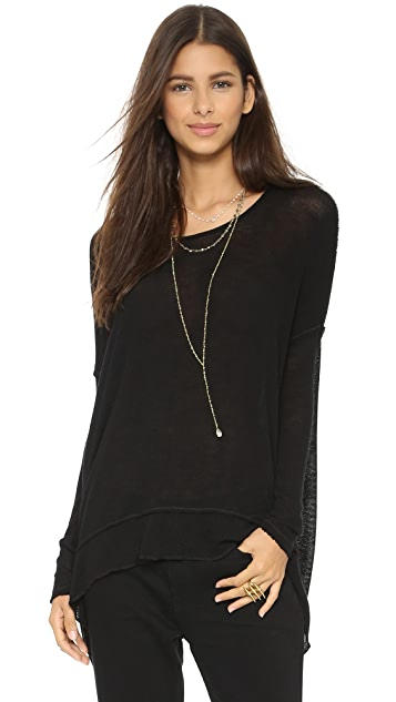 Free People Shadow Hacci Pullover