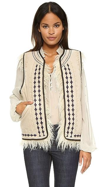 Free People Reversible Embellished Vest