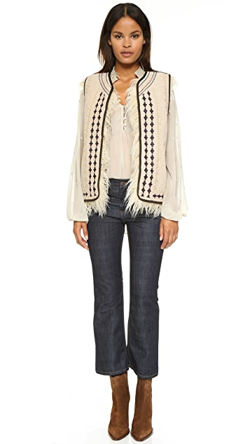 Free People Reversible Embellished Vest