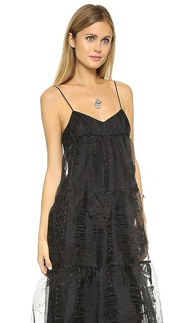 Free People Black Rose Tiered Maxi Dress