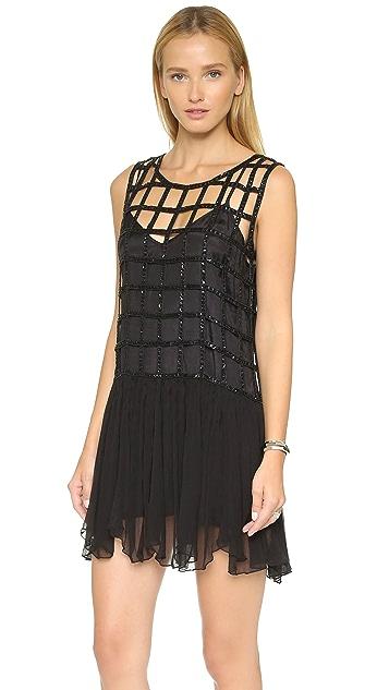 Free People Sequin Shell Drop Waist Dress