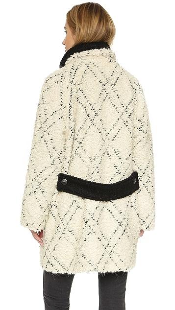 Free People High Collar Pattern Coat