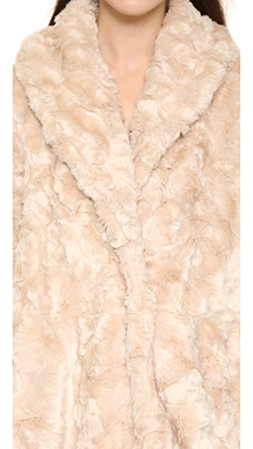 Free People Swingy Faux Fur Coat