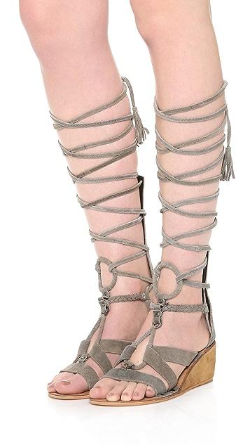 Free People Saltarello Mini Wedge Gladiator Sandals
