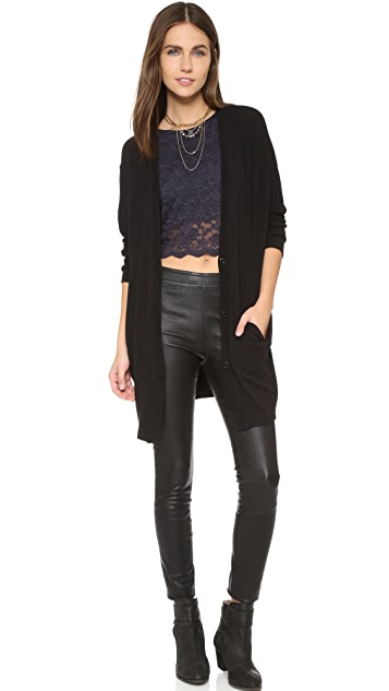 Free People Lace Crop Tank
