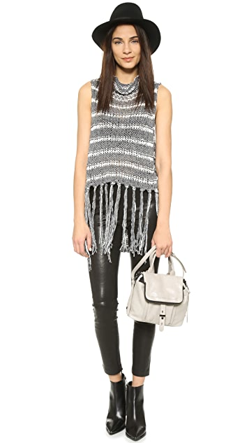 Free People Folksong Fringe Top
