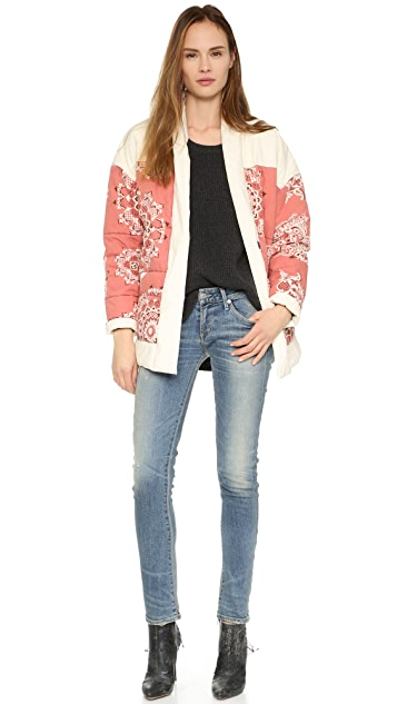 Free People Quilted Print Jacket