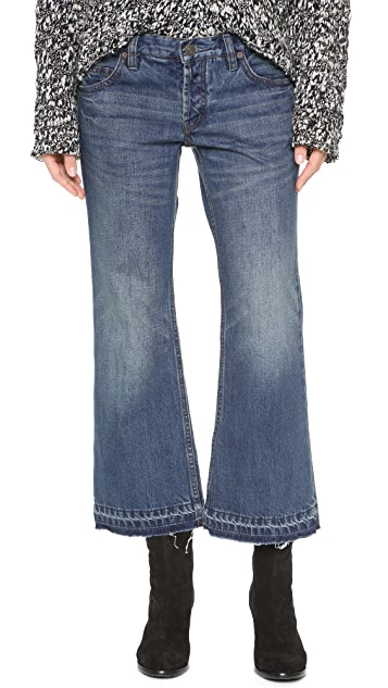 Free People Chelsea Cropped Kick Flare Jeans