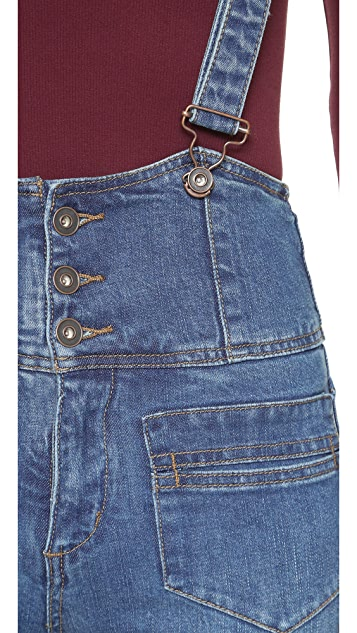 Free People Penrose Flared Overall Jeans
