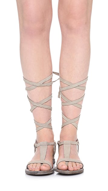 ded41e021b6 ... Free People Dahlia Lace Up Sandals ...