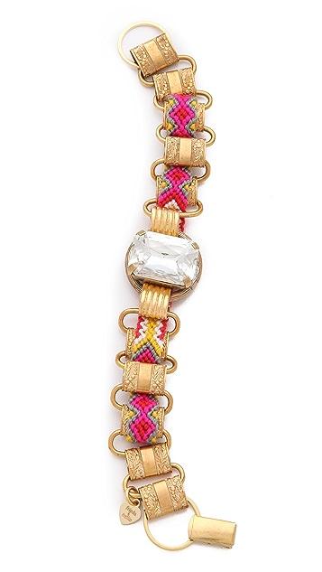 frieda&nellie Rhinestone Metal Link Bracelet