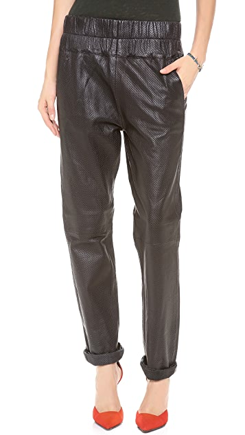 Friend of Mine Boxer Leather Track Pants