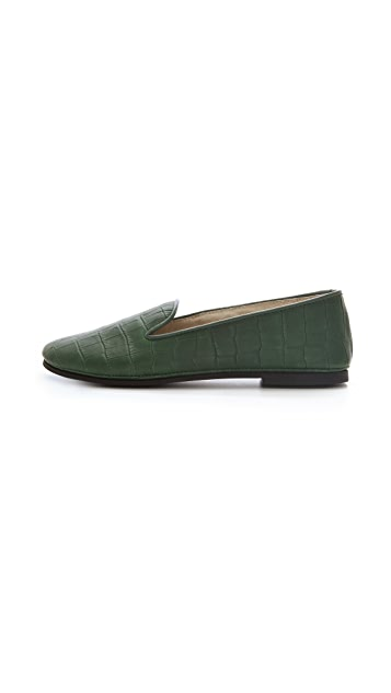 FRENCH SOLE fs/ny Stamped Croc Loafers