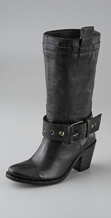 Frye Sandra Buckle Mid-Calf Boot
