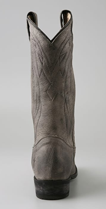 Frye Billy Vintage Pull On Western Boots