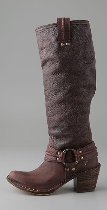 Frye Carmen Harness Tall Boots