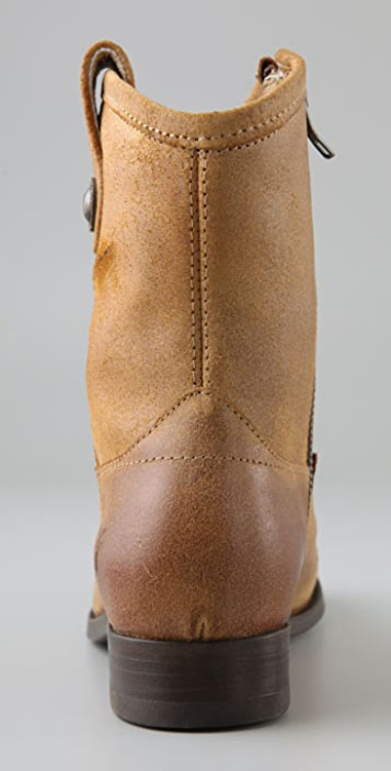 Frye Melissa Button Suede Short Boots