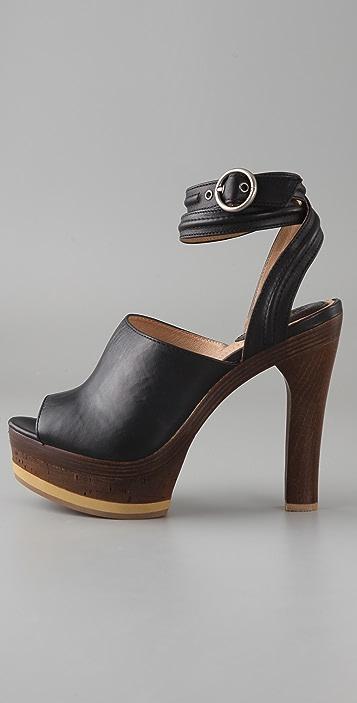 Frye Kara Cork Platform Sandals