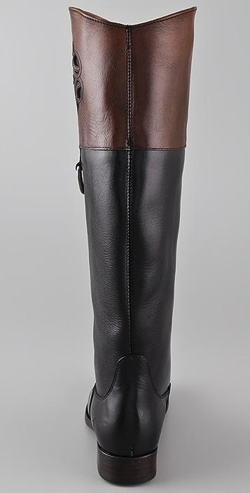 frye melissa logo flat boots shopbop