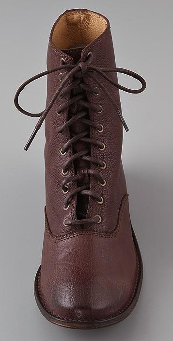Frye Paige Lace Flat Boots