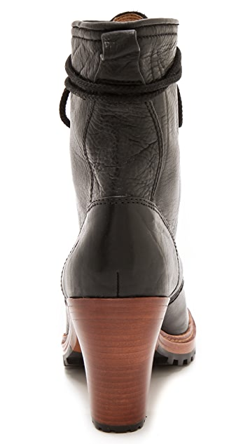 Frye Lucy Lace Up Booties
