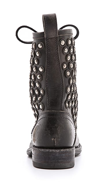 Frye Jenna Disc Lace Booties
