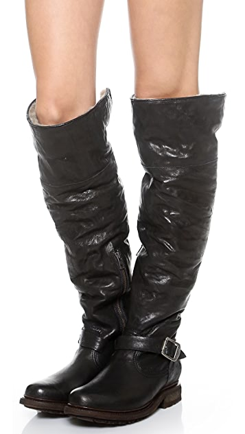 Frye Valerie Shearling Over the Knee Boots
