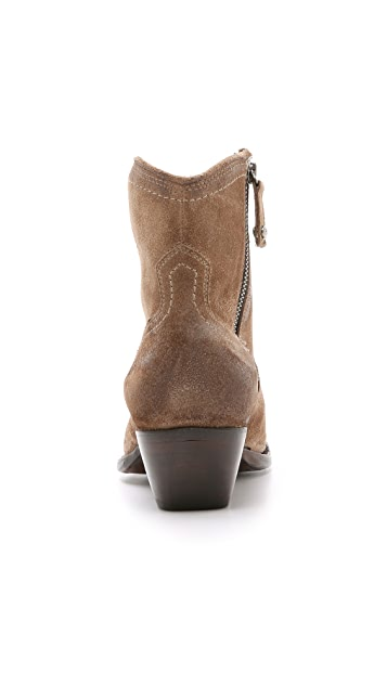 Frye Sacha Suede Short Booties