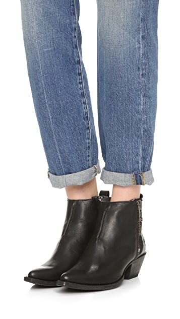 Frye Sacha Moto Short Booties