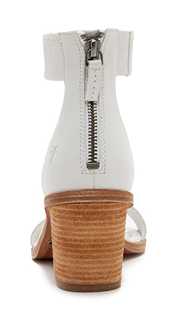 Frye Brielle Back Zip Sandals