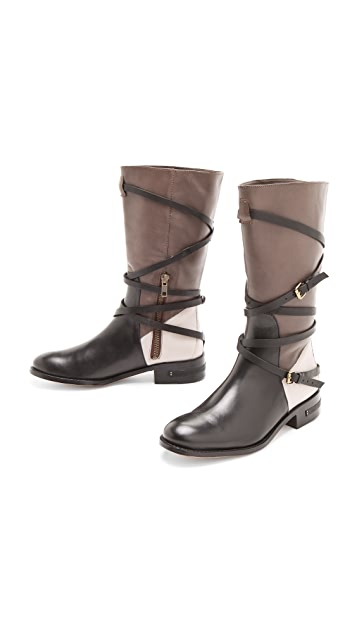 Freda Salvador Colorblock Riding Boots