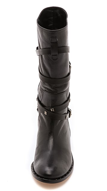 Freda Salvador Ride Studded Strap Boots