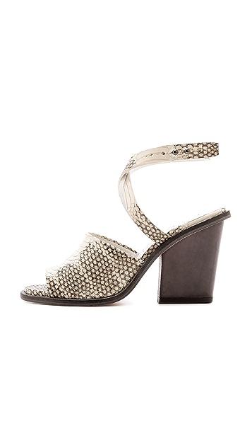Freda Salvador Heart Ankle Wrap Sandals