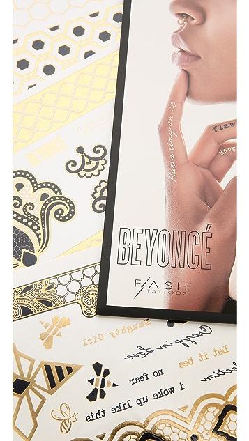 Flash Tattoos Beyonce Tattoo Set