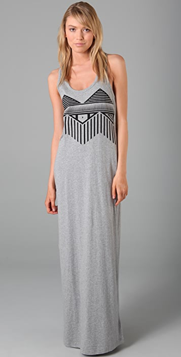 Funktional Tribal Tank Long Dress