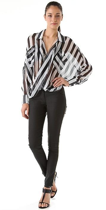 Funktional Stripe Fold Front Shirt