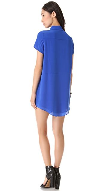 Funktional Lens Cutout Shirtdress