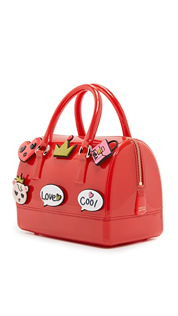 Furla Applique Candy Cookie Mini Satchel