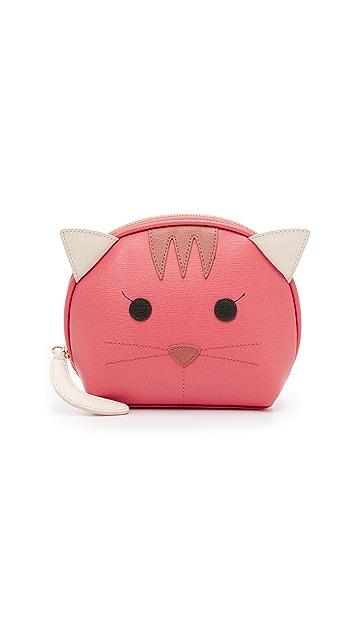Furla Косметичка Allegra с изображением кота