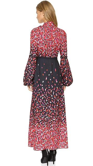 Giamba Tie Neck Heart Gown